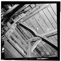 ROOF FRAME, SOUTH SLOPE, DETAIL OF FRAMING - Sarum, State Route 234 vicinity, Newport, Charles County, MD HABS MD,9-NEPO.V,1-15.tif