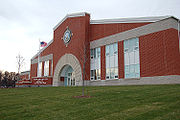 The Atlantic Fleet Drill Hall in Camp John Paul Jones at RTC Great Lakes, completed in December 2007.