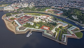 Peter and Paul Fortress - An aerial view of the fortress
