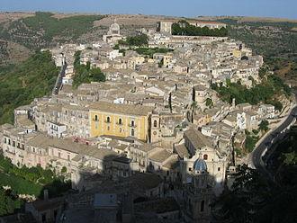 Ragusa, Sicily - Panorama of Ragusa Ibla