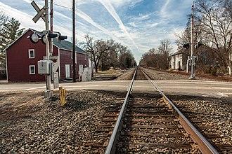 Catlett Historic District - Image: Railroad Tracks Catlett 4851