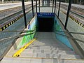 Railway station underpass stairs, 2018 Balatonboglár.jpg
