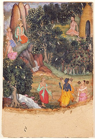Sugriva - Rama and Lakshmana Meet Sugriva at Matanga's Hermitage