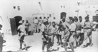 Ramat Yohanan - Members of the Yiftach Brigade stationed at Ramat Yohanan in 1948