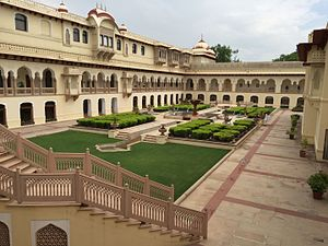 Rambagh Palace - Courtyard