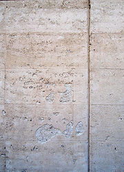 Rammed earth wall surface