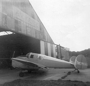 Ramsgate Airport - The main hangar with the Air Kruise logo.