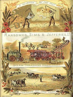 Ransomes, Sims & Jefferies - Thrashing machine advertisement c.1885