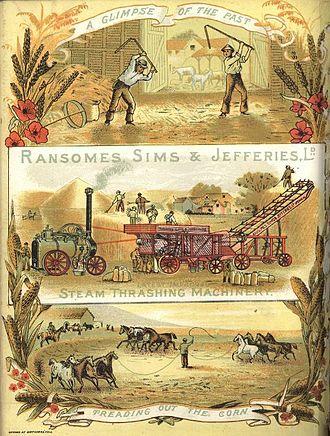 Ransomes, Sims & Jefferies - Thrashing machine advertisement c.1885