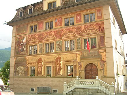 The Town Council House in Schwyz is also used for regular sessions of the Kantonsrat.