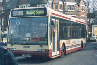 Reading Buses - Optare Excel LowRider in 1999 in a variant of the livery used until the introduction of premier routes