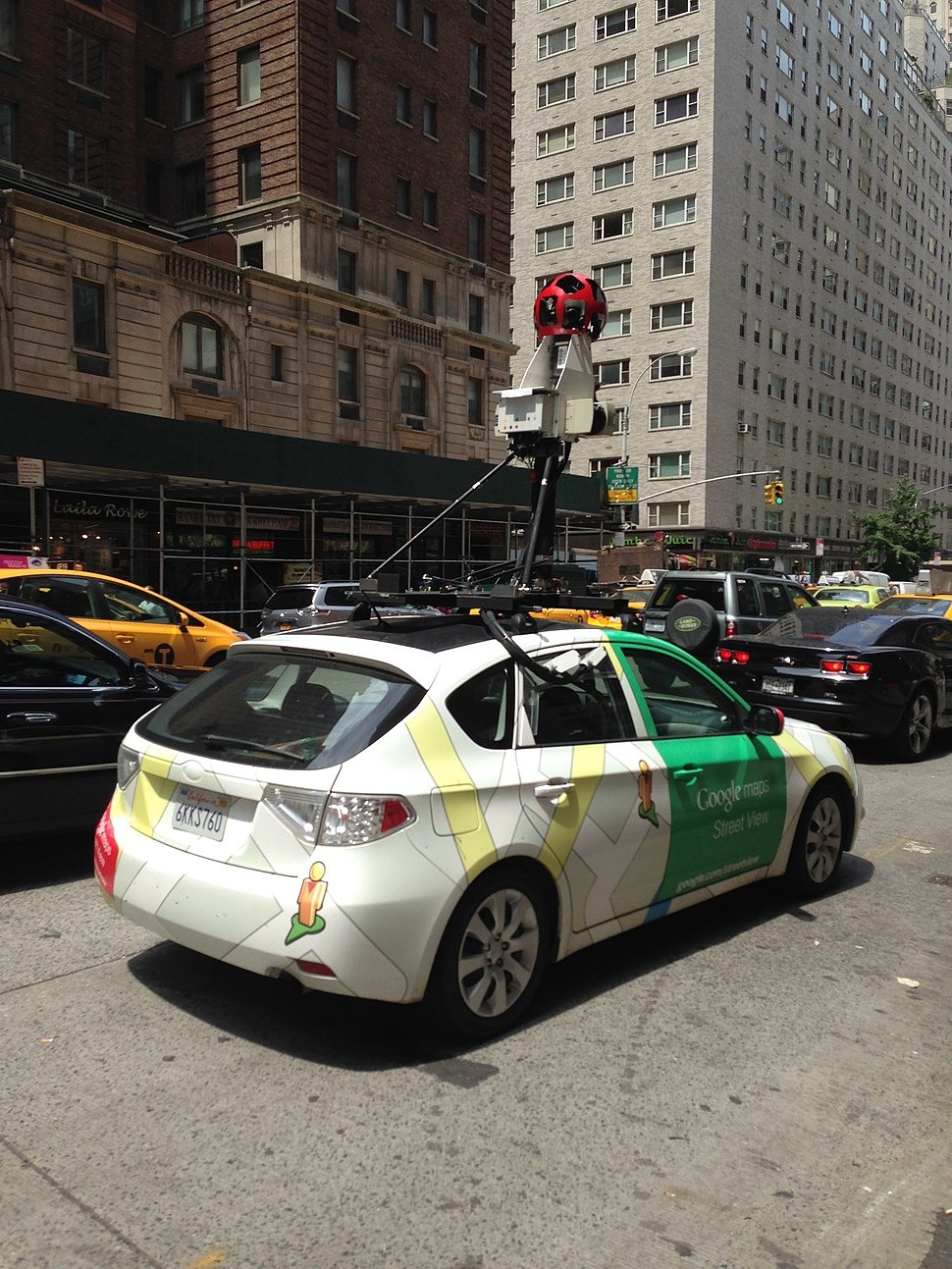 Rear view of Google Street View car
