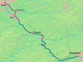 Route of the Nassau Rheinbahn