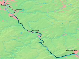 East Rhine Railway railway line in Germany