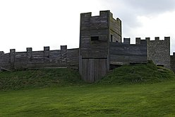Reconstruction of Hadrian's wall - geograph.org.uk - 407926.jpg