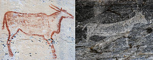 Tsodilo - Comparison of Red and White Rock Art at Tsodilo