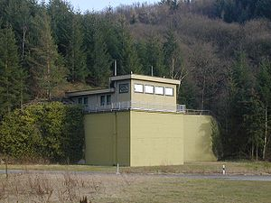 Government bunker (Germany) -  Access building to section 2 (East/West) of the government bunker near Marienthal after deconstruction, March 2008