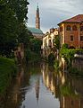 Retrone and clock tower of Basilica Palladiana. Vicenza, Italy.jpg
