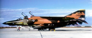Bergstrom Air Force Base - McDonnell RF-4C-32-MC Phantom, AF Ser. No. 66-0469, of the 62d Tactical Reconnaissance Training Squadron, July 1983. This aircraft is currently on display at the Hill AFB Museum, Ogden, Utah