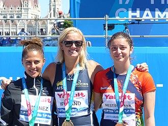 High diving at the 2017 World Aquatics Championships – Women - Rhiannan Iffland, Adriana Jimenez, Yana Nestsiarava