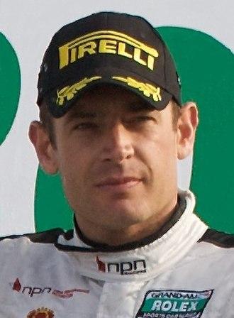 Richard Westbrook - Westbrook on the podium at the 2010 Rolex 24 Hours of Daytona