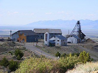 Eureka, Nevada - The historic Richmond Mine, one of the two major lead-silver mines in Eureka