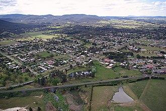 Riddells Creek - Riddells Creek seen from the air
