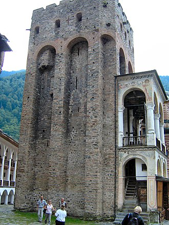 Hrelja - Hrelja's Tower in the Rila Monastery, Bulgaria
