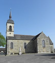 The church of Notre-Dame, in Rimou