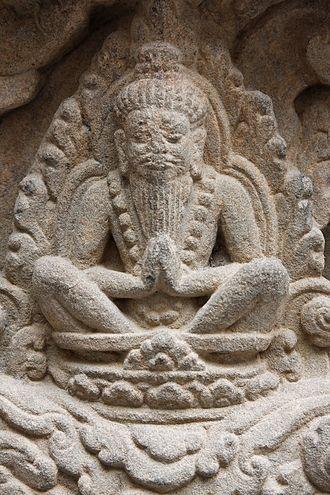 Rishi - A temple relief showing a Rishi.