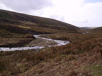 River Calder, Wyre - The River Calder, near its source