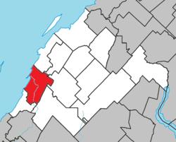 Location within Rivière-du-Loup RCM