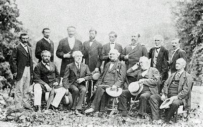 Robert E Lee with his Generals, 1869