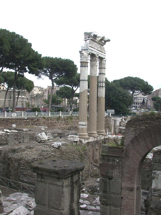 Vista del Foro di Cesare da nord.