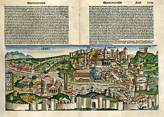 Roman Renaissance - Idealized depiction of Rome from the 1493 Nuremberg Chronicle