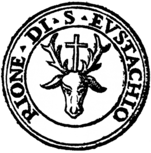 Sant'Eustachio (rione of Rome) - Logo of the rione