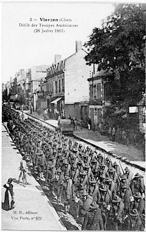 Romorantin - Pruniers Air Detachment - American Arrival in Romorantin, France, 28 June 1917