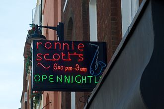 Ronnie Scott's Jazz Club - Ronnie Scott's Jazz Club neon sign