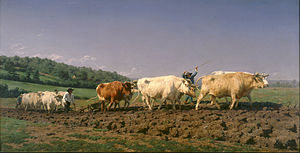 Ploughing in the Nivernais - Image: Rosa Bonheur Ploughing in Nevers Google Art Project