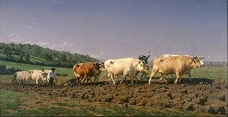 Rosa Bonheur - Ploughing in the Nivernais, Musée d'Orsay