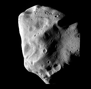 21 Lutetia - Rosetta image of 21 Lutetia at closest approach
