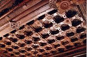 Rosewood ceiling at Rameshwara Temple in Keladi