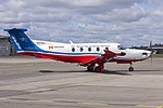 Royal Flying Doctor Service of Australia Central Operations (VH-FXJ) Pilatus PC-12-45 at Wagga Wagga Airport (1).jpg