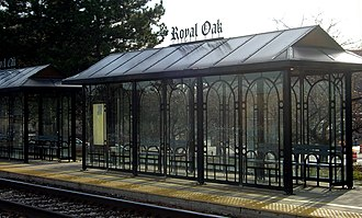 Royal Oak, Michigan - Royal Oak train platform