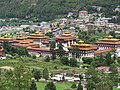 Royal Palace in Thimphu city, view from mountain, July 2016 05.jpg