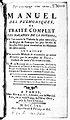 """Roziere de la Chassagne """"Manuel des pulmoniques"""", title page Wellcome L0016660.jpg"""