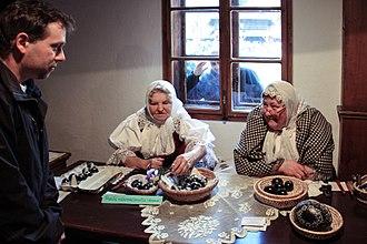 Ethnography - An ethnographer conducting field interviews, Valašské muzeum v přírodě