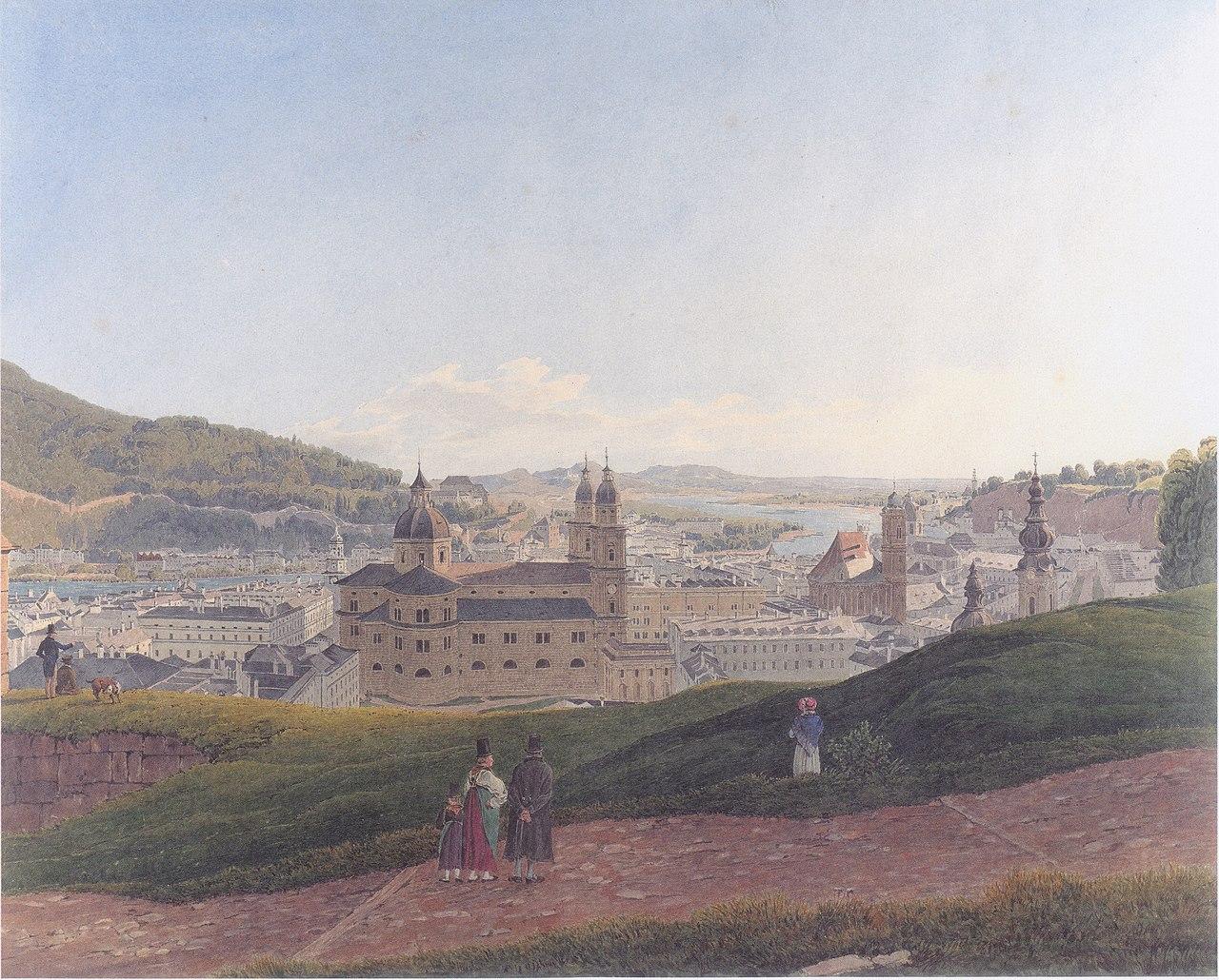 Rudolf von Alt - Ansicht von Salzburg - 1831-32.jpeg