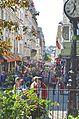 Rue de Steinkerque, leads to Scare Coeur, Paris May 2014.jpg