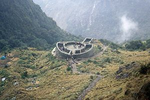 Runkuraqay - Image: Ruins Of Rest hut, Inca Trail